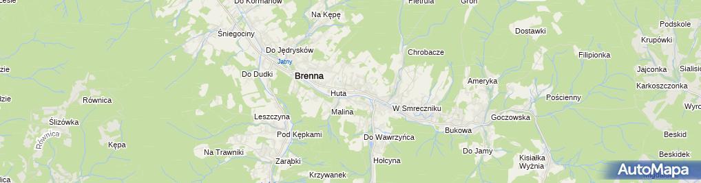 Zdjęcie satelitarne Kościół św. Jana Chrzciciela w Brennej6