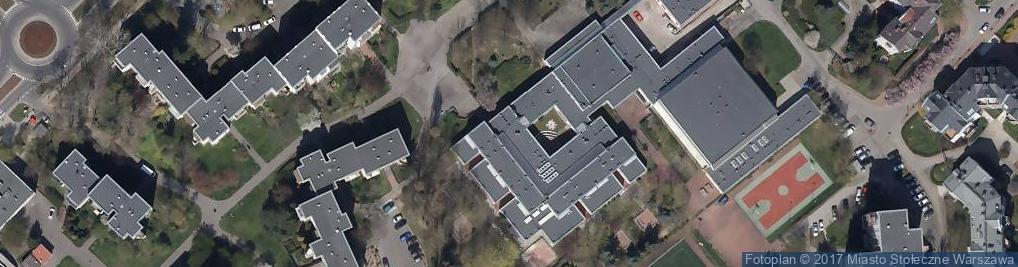Zdjęcie satelitarne LXX LO im. Aleksandra Kamińskiego