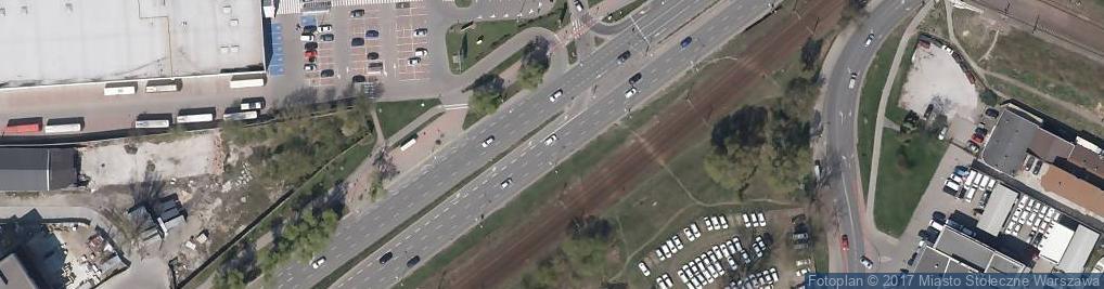Zdjęcie satelitarne ul. Radzymińska