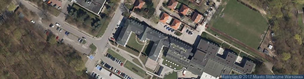 Zdjęcie satelitarne Uniwersytet Kardynała Stefana Wyszyńskiego w Warszawie