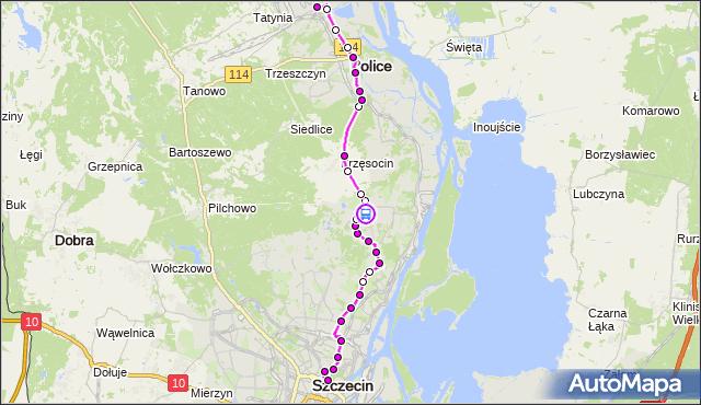 Rozkład jazdy autobusu 101 na przystanku Zagórskiego 10 nż 12. ZDiTM Szczecin na mapie Targeo