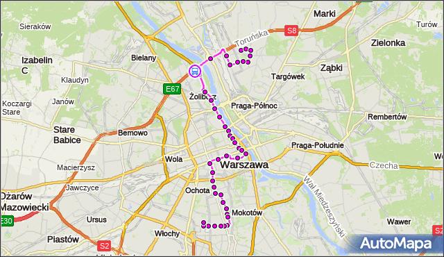 Rozkład jazdy autobusu 118 na przystanku MOST GROTA-ROWECKIEGO 01. ZTM Warszawa na mapie Targeo