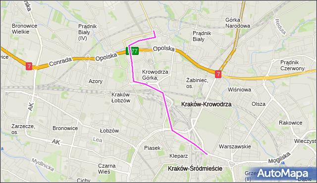 Rozkład jazdy autobusu 154 na przystanku Prądnik Biały. MPKKrakow na mapie Targeo