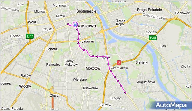 Rozkład jazdy autobusu 131 na przystanku CENTRUM 01. ZTM Warszawa na mapie Targeo