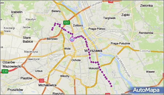 Rozkład jazdy autobusu 180 na przystanku ESPERANTO 02. ZTM Warszawa na mapie Targeo