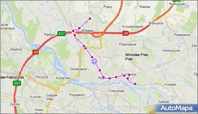 Rozkład jazdy autobusu 305 na przystanku Paprotna. MPKWroclaw na mapie Targeo