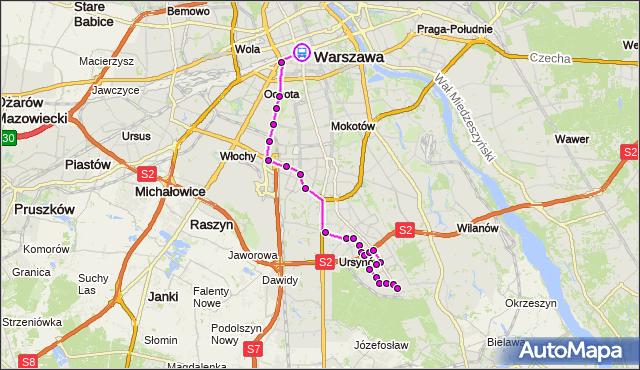Rozkład jazdy autobusu 504 na przystanku DW.CENTRALNY 02. ZTM Warszawa na mapie Targeo