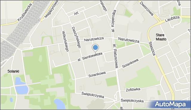 Inowrocław, Aleja Sienkiewicza Henryka, mapa Inowrocławia