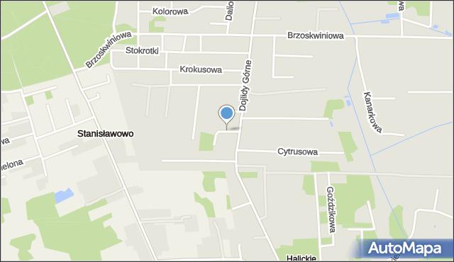 Białystok, Cytrynowa, mapa Białegostoku