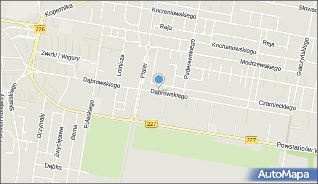 Pruszcz Gdański, Dąbrowskiego Jarosława, gen., mapa Pruszcz Gdański