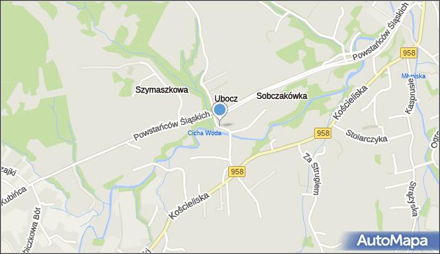 Zakopane, Droga do Rojów, mapa Zakopanego