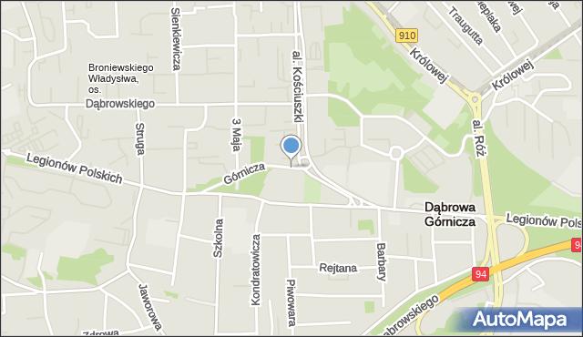 Dąbrowa Górnicza, Górnicza, mapa Dąbrowa Górnicza