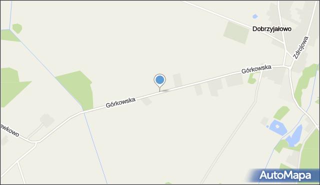 Dobrzyjałowo, Górkowska, mapa Dobrzyjałowo