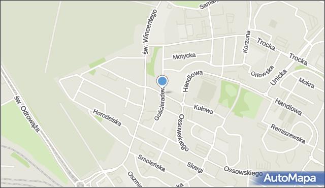 Warszawa, Gościeradowska, mapa Warszawy