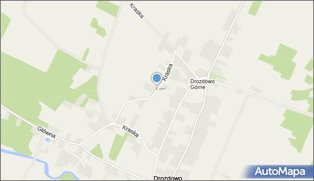 Drozdowo gmina Piątnica, Kraska, mapa Drozdowo gmina Piątnica