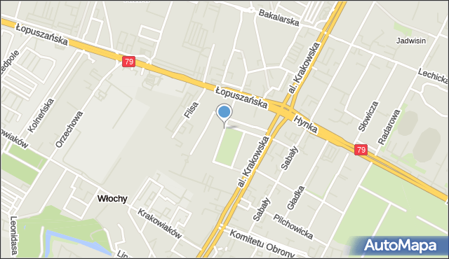 Warszawa, Króla Kazimierza Wielkiego, mapa Warszawy