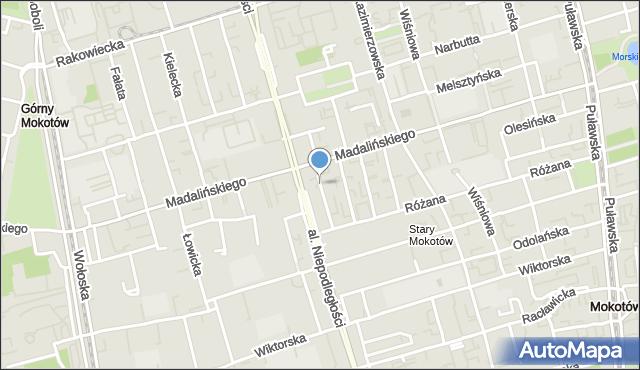 Warszawa, Króżańska, mapa Warszawy