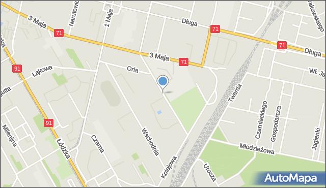 Zgierz, Kuropatwińskiej Stefanii, mapa Zgierz