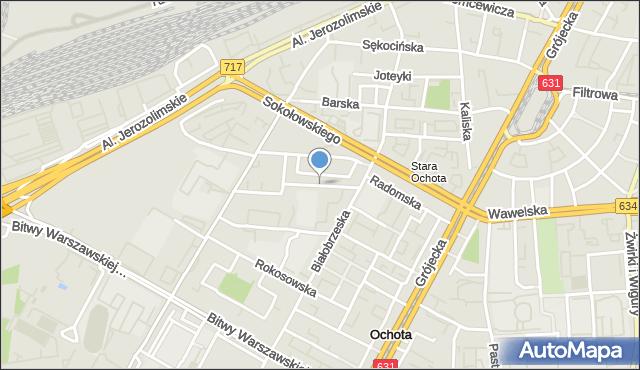 Warszawa, Lelechowska, mapa Warszawy