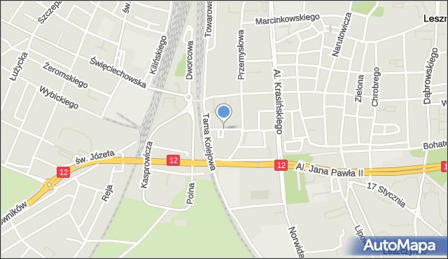 Leszno, Matejki Jana, mapa Leszno