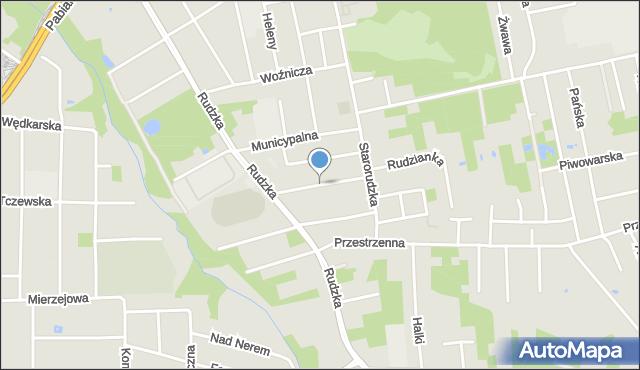 Łódź, Magdaleny, mapa Łodzi