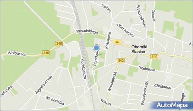 Oborniki Śląskie, Mała Ogrodowa, mapa Oborniki Śląskie