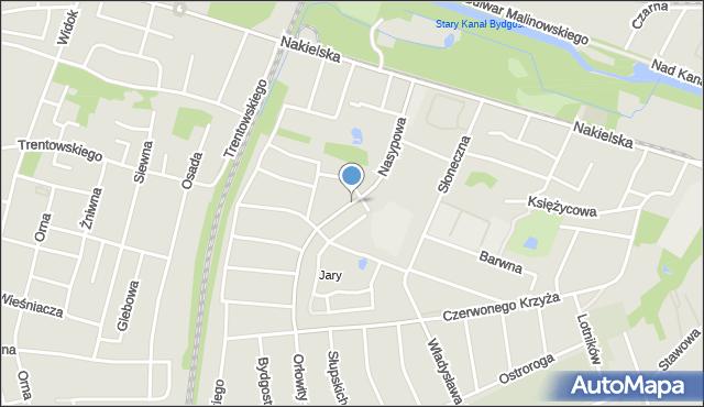 Bydgoszcz, Nasypowa, mapa Bydgoszczy