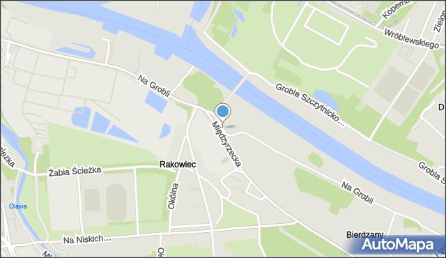 Wrocław, Na Grobli, mapa Wrocławia