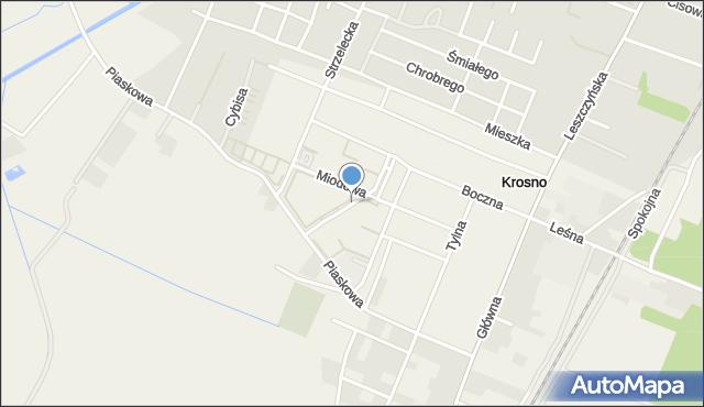 Krosno, Nektarowa, mapa Krosna