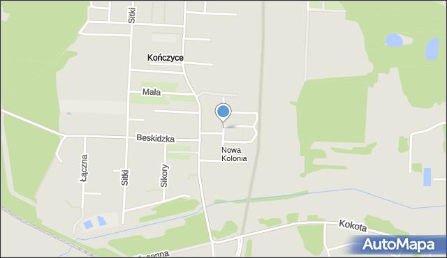 Zabrze, Nowa Kolonia, mapa Zabrza