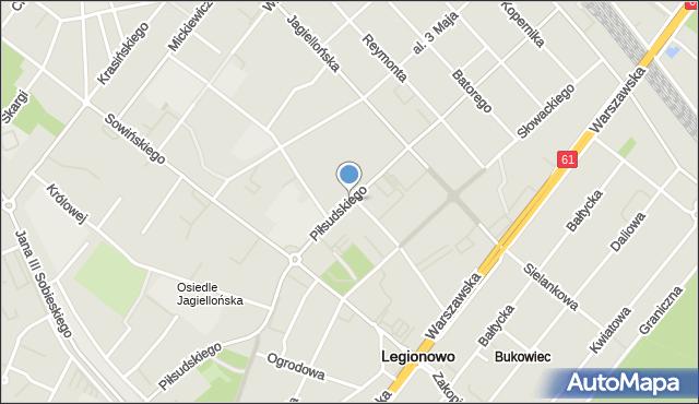 Legionowo, Piłsudskiego Józefa, marsz., mapa Legionowo