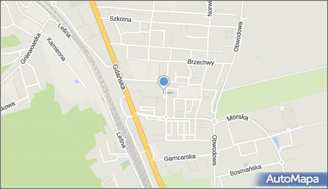 Reda, Plac św. Antoniego, mapa Reda