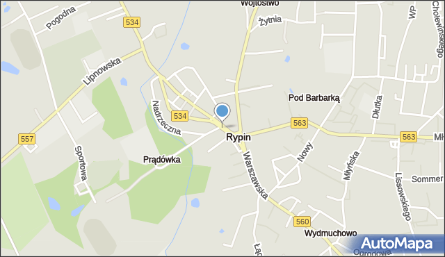 Rypin, Plac Sienkiewicza Henryka, mapa Rypin