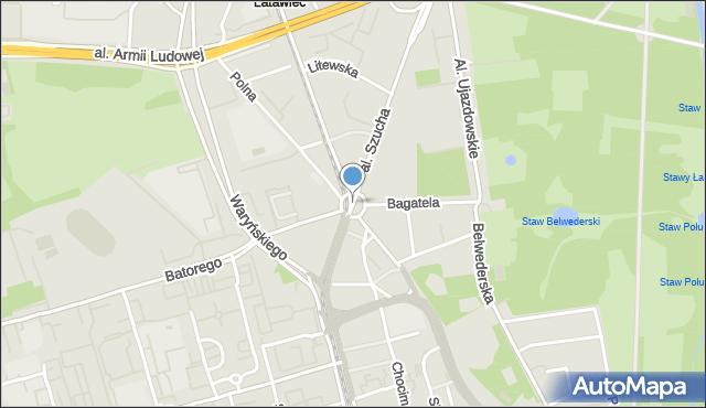 Warszawa, Plac Unii Lubelskiej, mapa Warszawy