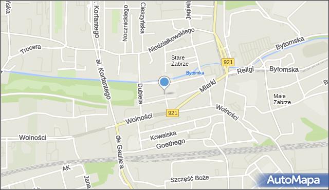 Zabrze, Plac Traugutta Romualda, gen., mapa Zabrza