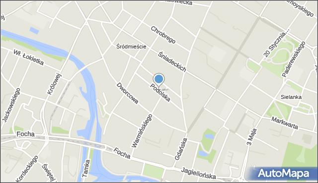 Bydgoszcz, Podolska, mapa Bydgoszczy