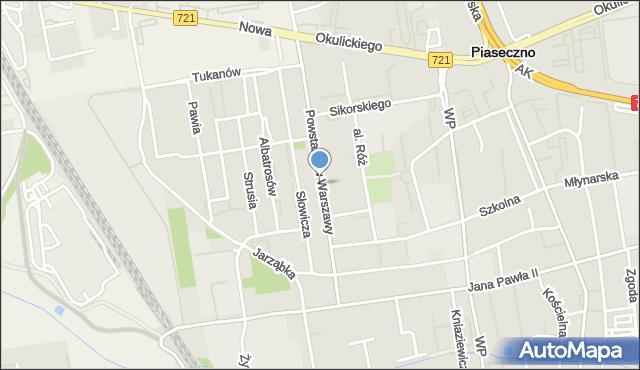 Piaseczno, Powstańców Warszawy, mapa Piaseczno