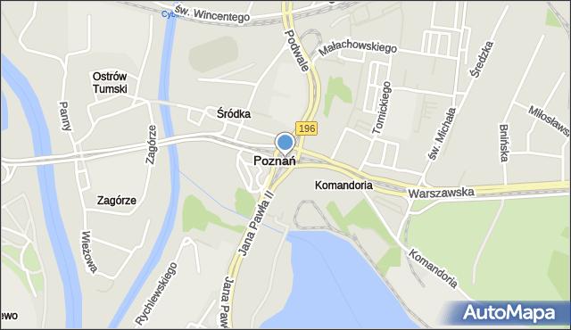 Poznań, Rondo Śródka, mapa Poznania