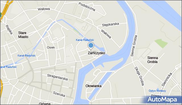 Gdańsk, Rycerska, mapa Gdańska