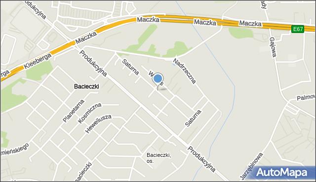 Białystok, Saturna, mapa Białegostoku