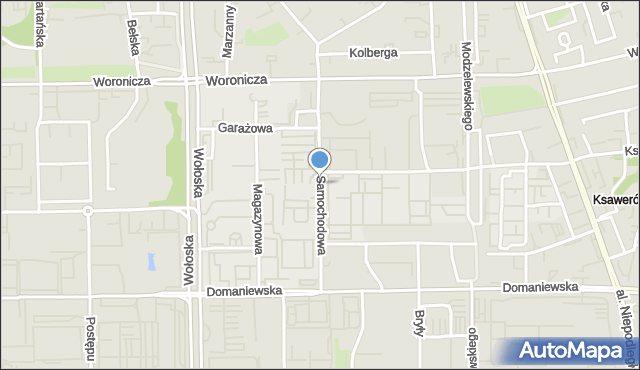 Warszawa, Samochodowa, mapa Warszawy