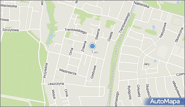 Bydgoszcz, Siewna, mapa Bydgoszczy