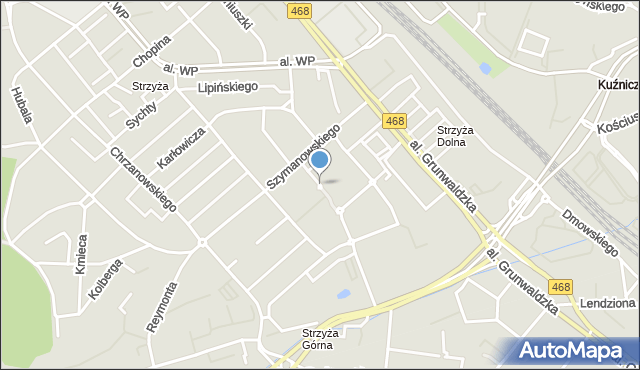 Gdańsk, Słonimskiego Antoniego, mapa Gdańska