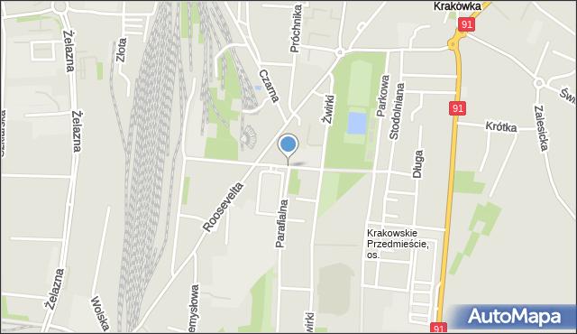 Piotrków Trybunalski, Sosnowa, mapa Piotrków Trybunalski