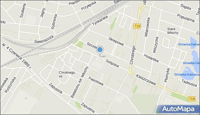 Warszawa, Solipska, mapa Warszawy