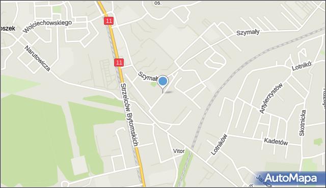 Bytom, Spokojna, mapa Bytomia