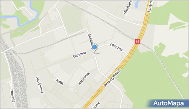Ełk, Strefowa, mapa Ełku
