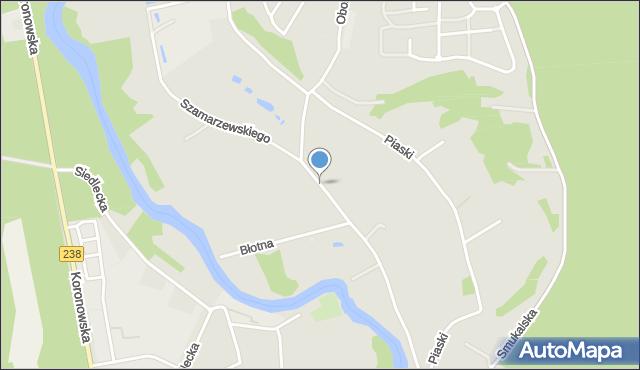 Bydgoszcz, Szamarzewskiego Augustyna, ks., mapa Bydgoszczy