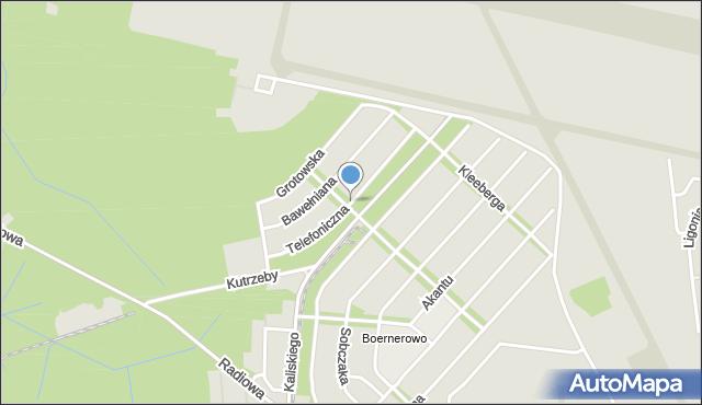 Warszawa, Telefoniczna, mapa Warszawy