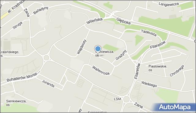 Lublin, Wallenroda Konrada, mapa Lublina